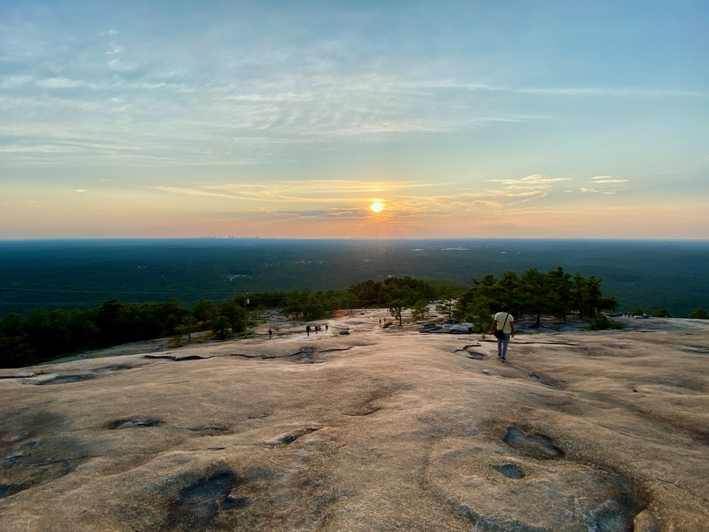 .. before starting our d... Stone Mountain Hike. MemExp Blog